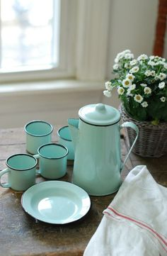 .Enamel coffee pot