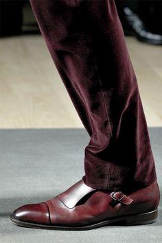 ♂ Man's fashion wear. burgundy Hermès - Men Fashion Fall Winter 2012-13 - Shows - Vogue.it