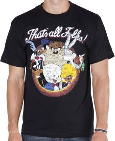Thats All Folks Looney Tunes Shirt