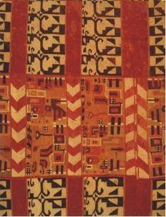 Cultura Huari (700-110 d.C.), lana de camélido, Trama 200 cm, urdimbre 97 cm, Colección Museo Etnográfico