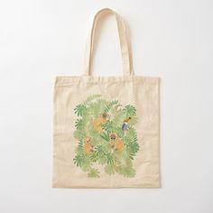 'Monkey Safari' Tote Bag by JaanaHalme Designer Totes, Printed Tote Bags, Iphone Wallet, Monkey, Safari, Cotton Fabric, Reusable Tote Bags, Art Prints, Canvas