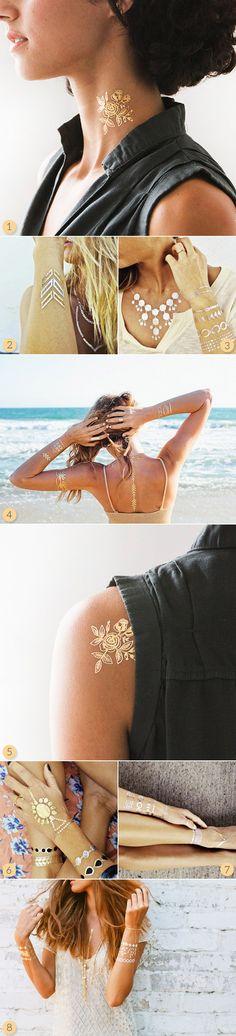 Metallic Gold Temporary Tattoos