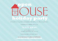 Holiday Party Invitations - Open House by Mixbook