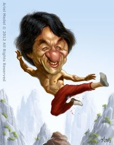 Jackie Chan Funny celebrity caricatures