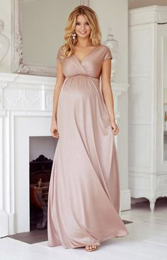 Francesca Maternity Maxi Dress Blush - Maternity Wedding Dresses, Evening Wear and Party Clothes by Tiffany Rose UK Maternity Bridesmaid Dresses, Maternity Gowns, Stylish Maternity, Maternity Fashion, Wedding Dresses, Maternity Wedding, Maternity Style, Maxi Dresses, Pink Blush Maternity