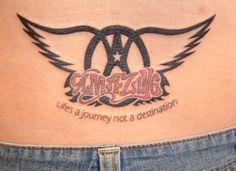 Tatoo de Fan de Aerosmith, canción: Amazing. Life's a Journey, not a Destination ♫