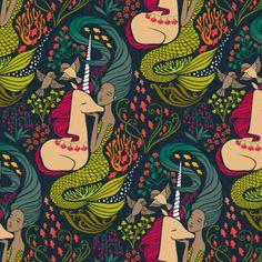 Unicorns & Mermaid fabrics http://blog.spoonflower.com/2016/08/proof-that-unicorns-and-mermaids-are-real/