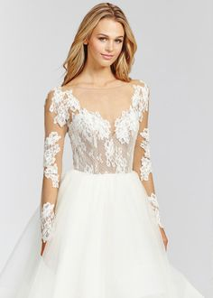... Hayley Paige bridal gown - Ivory lace and tulle bridal ball gown d25320f82472