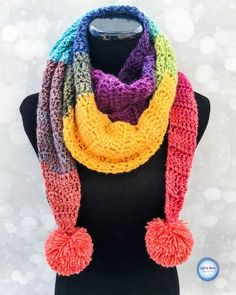 Chroma Scarf - free crochet pattern by Megan Meyer at Left in Knots.