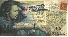 Vintage ATC UK Travel themed Mail Art Challenge/Swap