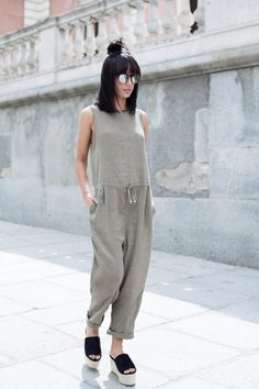 hello-fashionstuff: hello-fashionstuff —> personal & street style ONE-STREET-STYLES ♡✖️♡✖️ Summer Outfits, Casual Outfits, Looks Street Style, Outfit Trends, Mode Hijab, Minimal Fashion, Jumpsuits For Women, Style Me, Overalls