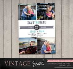 Save the Date Card / Magnet (Printable) by Vintage Sweet.