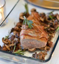 Varkenshaas met champignons uit de oven