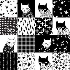 Quilt Designs, Quilt Stoffdesign, Wholecloth Quilting, Spoonflower Stoff,  Hunde Stoff