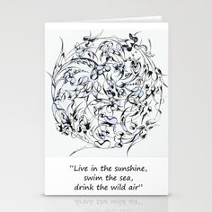 Breathe Stationery Cards by anipani - $12.00