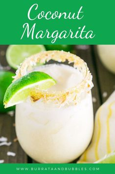 In search of a fruity margarita for your Cinco de Mayo party? I have no doubt you'll love these delicious and easy coconut margaritas for a fun tropical cocktail. With the warm weather coming this coconut margarita is the perfect summer cocktail. Coconut Margarita, Margarita Recipes, Cocktail Recipes, Drink Recipes, Party Recipes, Peach Margarita, Margarita Party, Sweet Cocktails, Tailgating Recipes