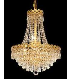 Palace Century King 8 Light  Crystal chandelier light Gold fixture a
