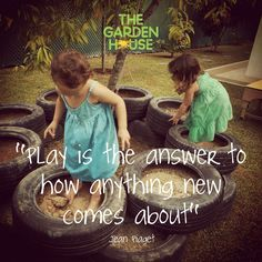 """""""PLAY is the answer to how anything new comes about"""" ~Jean Piaget (One of our favourite Reggio Inspired quotes ever, children learn so much through simple play!)"""