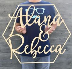 Happy Birthday Sign Discover Personalized Large Names Sign inches Geometric Custom Hexagon Name Sign Wedding Birthday Nursery Backdrop Laser Cut Decor Unique Anemone Wedding, Lilac Wedding, Wedding Name, Trendy Wedding, Diy Wedding, Perfect Wedding, Wedding Ideas, Wedding Music, Spring Wedding