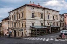 Old building on town hall plaza, Banská Štiavnica, Slovakia