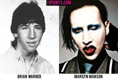 Marilyn Manson. Marilyn Manson wasn't a strategically-calculated freakshow growing up. In fact... he wasn't even close.