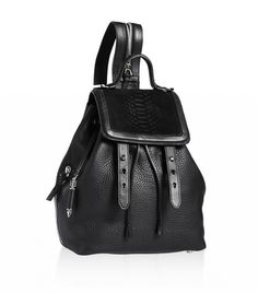 Zara Backpack With Zip Detail