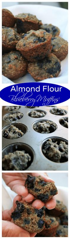 Almond Flour Blueberry Muffins - low carb, low fat, low calorie and absolutely - Breakfast - Kalorienarme Rezepte Healthy Snacks, Healthy Recipes, Diabetic Recipes, Healthy Muffins, Gf Recipes, Lunch Recipes, Fall Recipes, Vegetarian Recipes, Cooking Recipes