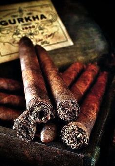 The best prices on Gurkha Cigars are here at Corona Cigar Company, as well as a huge variety of other premium cigars at affordable prices. Cigars And Whiskey, Good Cigars, Pipes And Cigars, Cigar Art, Cigar Humidor, Art Of Manliness, Cigar Room, Man Up, Cigar Smoking