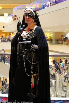 Steampunk Nun by DTJAAAAM, via Flickr I need to make a nun's habit, but I think I'll do two. One a steampunk one. This one is cool for inspiration!