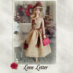 "Love Letter - for Silkstone Barbie, Fashion Royalty, Poppy parker and vintage repro and other 11,5"" dolls."
