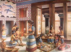Minoan Civilization, the palace of Knossos Bronze Age Civilization, Cradle Of Civilization, Creta, Ancient Greek Art, Ancient Greece, Greek History, Ancient History, Minoan Art, Classical Greece