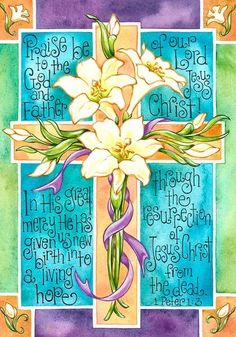Easter Lily Scripture Cross - Large Size 28 Inch x 40 Inch Decorative Flag Happy Easter Quotes, Easter Wallpaper, Easter Garden, Journaling, Easter Religious, Church Banners, Easter Cross, Flag Decor, House Flags