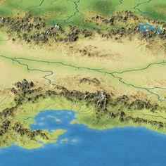 Emirates of Narwan, render, fantasy map, Calidar, Great Caldera