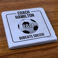 A Soccer Stone Coaster is a perfect soccer coach gift or gift for soccer moms and dads! They are so many designs, you cant pick just one!