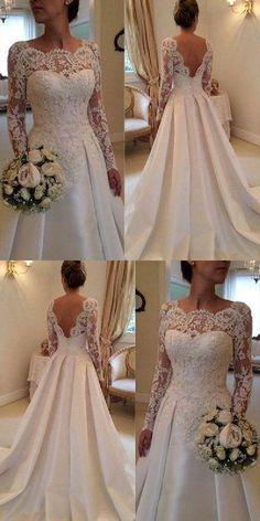 Backless Wedding Dresses #BacklessWeddingDresses, Wedding Dresses Long #WeddingDressesLong, Custom Wedding Dresses #CustomWeddingDresses Wedding Dresses 2018