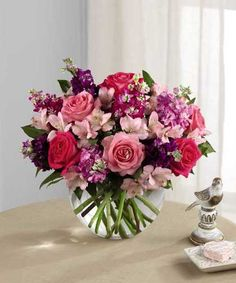 Designer Flowers by Rose offers fresh flower delivery Greenwood. Save money by sending flowers directly with a Local Florist. Small Purple Flowers, Flowers For Mom, Easter Flowers, Valentines Flowers, Spring Flowers, Beautiful Flowers, Fresh Flowers, Spring Bouquet, Order Flowers
