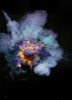 Nick Knight: Paint Explosions, Purple on Blue, Autumn/ Winter 2005