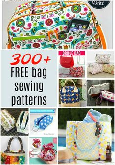 FREE bag sewing patterns - Free sewing patterns for bags and purses of all kinds. Free patterns for tote bags, wallets, zipper - Easy Sewing Projects, Sewing Projects For Beginners, Sewing Tutorials, Sewing Tips, Sewing Hacks, Tutorial Sewing, Bag Tutorials, Messenger Bag Patterns, Bag Patterns To Sew