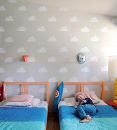 DIY Cloud Wall Stencil