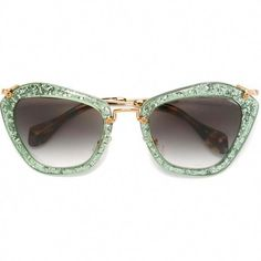 1810d5e5f7f Miu Miu  Noir  glitter sunglasses ( 410) found on Polyvore featuring  women s fashion