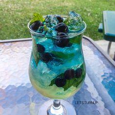Blueberry Mint! ▃▃▃▃▃▃▃▃▃▃▃▃▃▃▃▃▃ 1 oz. @laplandiavodka Mint Vodka 2 oz. Sweet & Sour ½ oz. Blueberry Schnapps ½ oz. Simple Syrup 1 oz. Club Soda ½ oz. Blue Curacao Blueberries Mint Leaves ::BE SURE...
