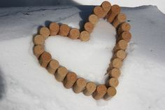 Wine Cork DIY:  corks assembled as a heart.