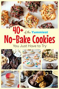 40+ of the Yummiest No-Bake Cookies You Just Have to Try - Mom Does Reviews Pumpkin No Bake Cookies, Peanut Butter Banana Cookies, Chocolate Coconut Cookies, Low Carb Peanut Butter, Delicious Cookie Recipes, Best Cookie Recipes, Yummy Cookies, Sweet Recipes, Delicious Food