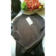 Zara ◾SIZE L Brown Knit Dress Long Sleeve  50% Cotton 50% Polyester  177 cm Height of model Zara Dresses Mini