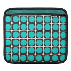 Choose from a variety of Pattern iPad sleeves or make your own! Pattern iPad sleeves from Zazzle. Shop for new custom iPad 3 & 4 sleeves! Retro Colours, Brown Teal, Ipad Sleeve, Retro Pattern, Cool Patterns, The Good Place, Create Your Own, Personalized Gifts, Promotion