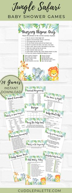 Celebrity Baby Names, Celebrity Babies, Jungle Safari, Safari Animals, Baby Shower Games, Baby Boy Shower, Who Knows Mommy Best, Wives Tales, Whats In Your Purse