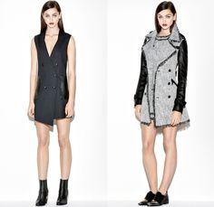 Rachel Zoe 2014 Pre Fall Womens Presentation - Pre Autumn Collection Looks - Wide Leg Palazzo Pants Culottes Gauchos Boucle Outerwear Coat O...