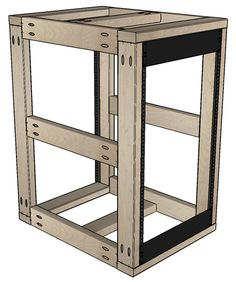 Free woodworking plans for an open frame or enclosed Server Rack for home or small office. I have a few rack mount servers that I. Woodworking Hand Saws, Woodworking Bench Plans, Woodworking Projects For Kids, Woodworking Equipment, Woodworking Machinery, Server Cabinet, Server Rack, Woodshop Tools, Diy Rack
