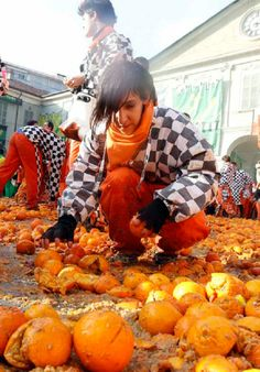 THE BATTLE OF THE ORANGES, IVREA, ITALY Credit: The Baltimore Sun