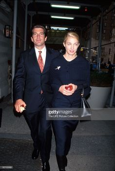 John Kennedy Jr., and wife Carolyn Bessette at Breast Cancer Research Foundation benefit.